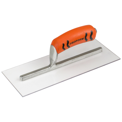 "Picture of 11"" x 4-1/2"" Square End Plexi-Plastic Trowel with ProForm® Handle"