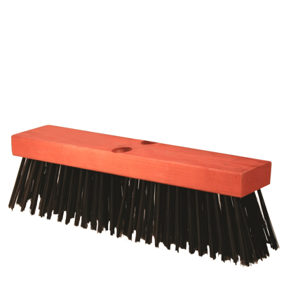 "Picture of 16"" Round Wire Street Broom with Handle"