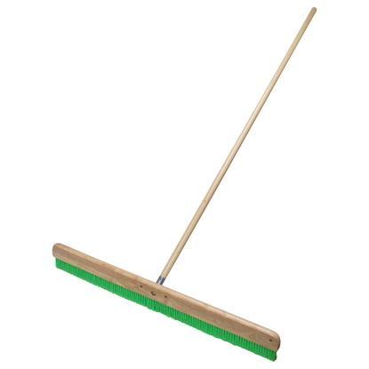 "Picture of 36"" Green Nylex® Soft Finish Broom with Handle"