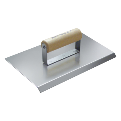"Picture of 10"" x 6""  3/4"" R Stainless Steel Chamfer Tool with Wood Handle"