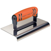 "Picture of 10"" x 6"" 1/4""R Stainless Steel Highway Edger with ProForm® Handle"