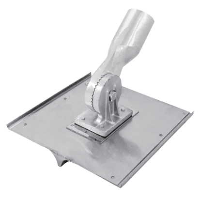 "Picture of 10"" x 10"" 3/4""R, 7/8""D Stainless Steel Walking Seamer/Groover with Threaded Handle Socket"