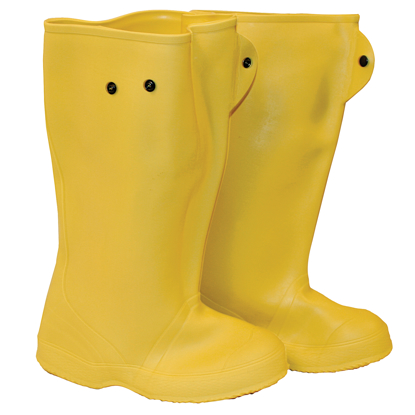 "Picture of 16"" Yellow Over-The-Shoe Construction Boots - Size 15"
