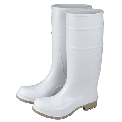 "Picture of 16"" White Over-The-Sock Boots - Size 10"