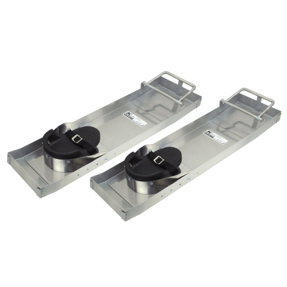 "Picture of 31"" x 8"" Deluxe Heavy-Duty Stainless Steel Knee Boards (Pair)"