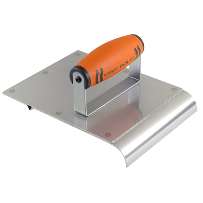 "Picture of 6"" x 8"" 1/2""R 1/2""Bit Stainless Steel Hand Edger/Groover with ProForm® Handle"