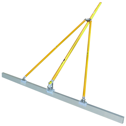 "Picture of Gator Tools™ 10' x 1-1/2"" x 3-1/2"" Diamond XX™ Paving Screed Kit with Bracket, Out Riggers, & 3 Handles"