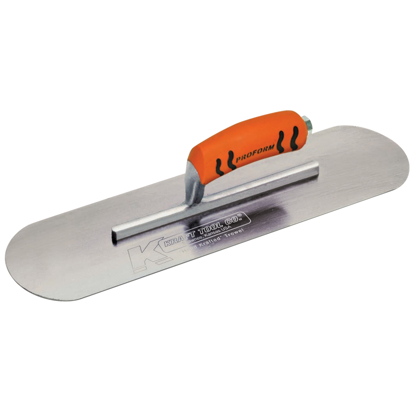 "Picture of 10"" x 3"" Carbon Steel Pool Trowel with a ProForm® Handle on a Short Shank"