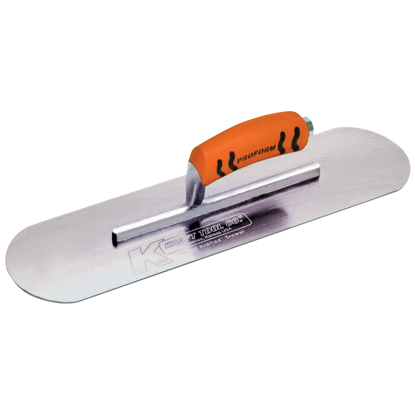 "Picture of 10"" x 3"" Swedish Stainless Steel Pool Trowel with a ProForm® Handle on a Short Shank"