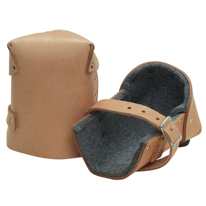 "Picture of 1"" Thick Felt Leather Knee Pads (Pair)"