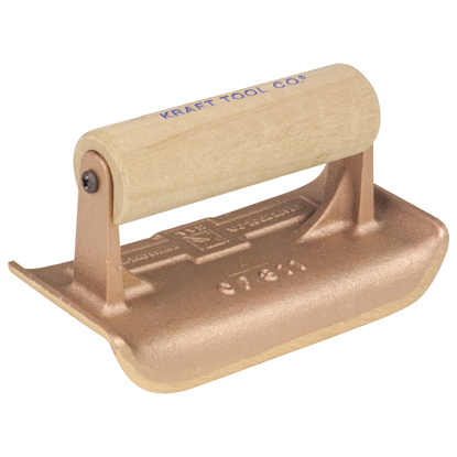 "Picture of 6"" x 2-3/4""  1/4""R Bronze Edger with Wood Handle"