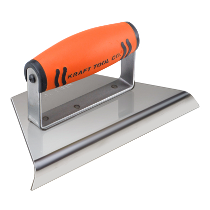 "Picture of 1/2"" R Stainless Steel Tapered Hand Edger 8"" to 3"" x 4"" with ProForm® Handle"