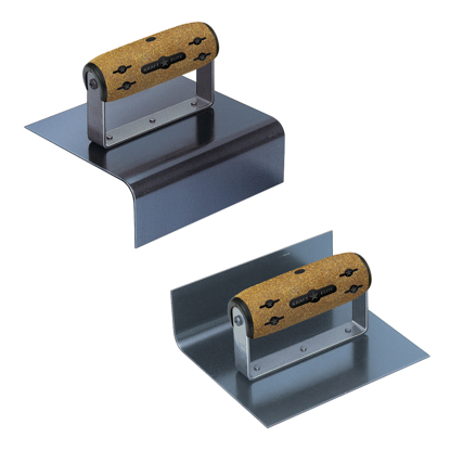 "Picture of 6"" x 5"" x 2"" Elite Series Five Star™ Blue Steel Outside & Inside Jr Step Tool Matched Pair with Cork Handle"