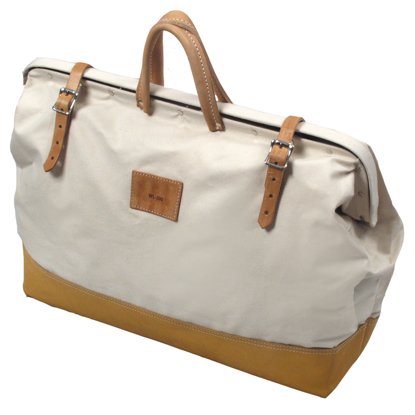 "Picture of 20"" Deluxe Leather Bottom Bag"
